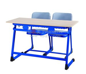 China New School Furniture Classroom Syudy Double Desk and Chair (SF-32D) pictures & photos