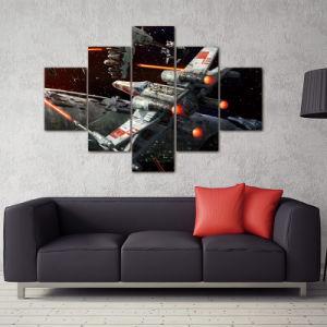 5 Panels Unframed Canvas Photo Prints