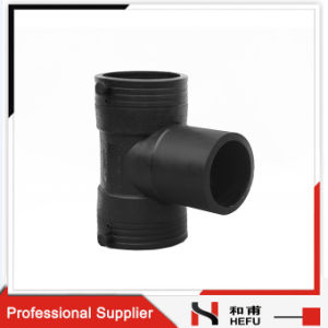 PE Polyethylene Plumbing Fitting Connector Cross Equal Pipe Tee pictures & photos