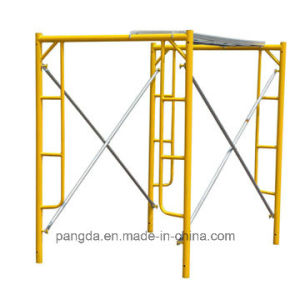 Powder-Coated Long Service Life Steel Mason Ladder Frame Scaffold