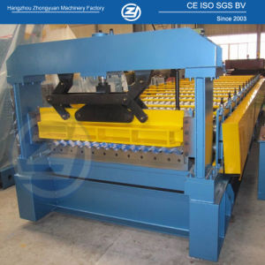 Mitsubish PLC Roof Wall Cold Roll Forming Machine pictures & photos