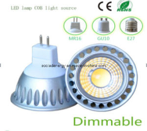 Ce and Rhos Dimmable MR16 3W COB LED Spot Light pictures & photos