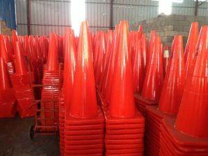 PVC Barricade Cone Barrier Orange Reflective Traffic Cone pictures & photos