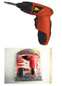 Cordless Screwdriver with 4PCS Blister Cark Packing pictures & photos
