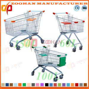 Fashion Supermarket Euro Style Shopping Cart Trolley (Zht10) pictures & photos