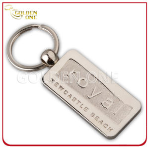 Best Seller Printable Rectangular Shape Metal & Leather Key Chain pictures & photos