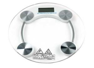 180kg Cricular Shape Glass Top Bathroom Scale pictures & photos