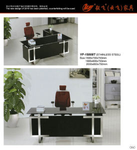 Executive Glass Office Furniture Office Desk