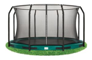 10FT Toy Inground Trampoline with Enclosure Net