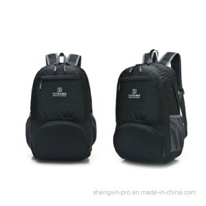 High Quality Foldable Black Back Pack with Shoulders for Adult