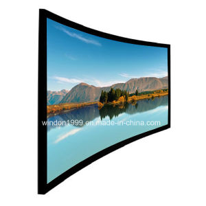 Home Theater Curved Projector Screen / Fixed Frame Projection Screen pictures & photos