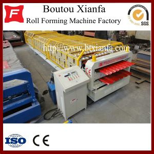 Double Layer Steel Roofing Tile Roll Forming Machine (XF21-35)