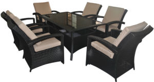 Outdoor Patio Rattan Wicker Garden Furniture Dining Set
