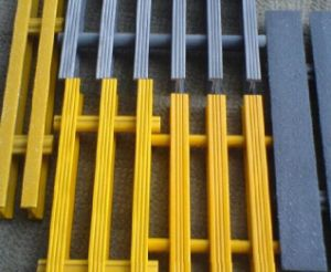 Fiberglass Pultruded Grating, Fiberglass Pultrusion Profile, FRP/GRP I Beam Grating pictures & photos