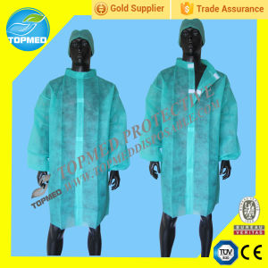 Nonwoven Disposable Lab Coat, Disposable Lab Jacket Coat, SBPP Medical Gown Apron pictures & photos