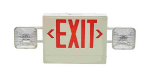 Adjustable Twin Heads Combo LED Exit Sign & Emergency Light pictures & photos