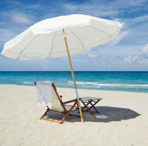 Strips Beach Umbrella with Various Style Available pictures & photos