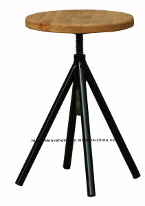 Modern Industrial Restaurant Dining Wooden Common Bar Stools pictures & photos