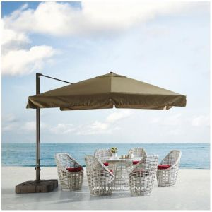 High Quality Relaxing Outdoor Beach Rattan Chairs with Coffee Table pictures & photos