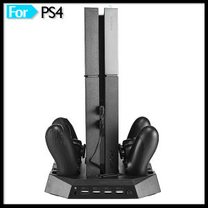 Vertical Stand Cooling Fan with Quad Controller Charging Station for Sony PS4 Playstation 4 Game Accessories