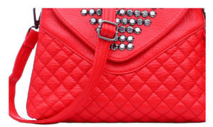 Simple Fashion PU Leather Lady Popular Rivet Small Handbag pictures & photos