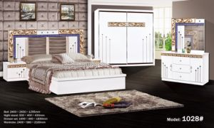 Bedroom Sets White Color Paper Finish White Painting Bed Cheap Price Hot  Selling to Africa and Middle East Dressing Table