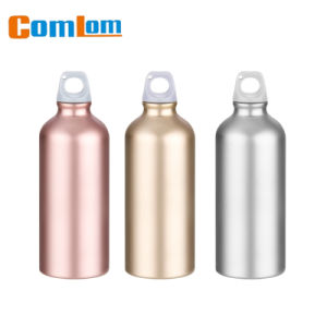 CL1C-GD1-A Comlom 600ml Aluminium Water Bottle No Lead Wide Mouth With Flip Straw