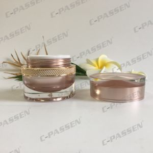 30g Rose-Gold Round Acrylic Cream Jar for Cosmetic Packaging (PPC-ACJ-114) pictures & photos
