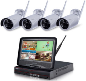 "4chs NVR Kits 1.3megapixels WiFi IP Camera with 10.1"" CCTV Monitor pictures & photos"