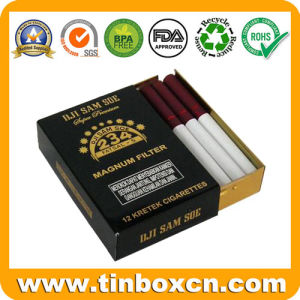 Rectangular Cigarette Tin with Sliding Cover, Slide Tin Box pictures & photos