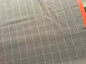 Brown Check Wool Woolen Fabric