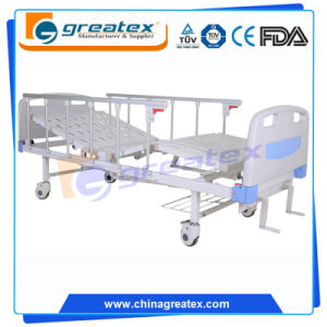 Hot Style Adjustable Back Manual Patient Beds with Under-Bed Shelf