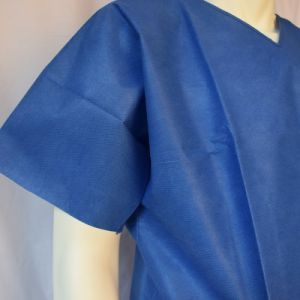 Blue SMS Scrub Suit, Neck with Blue Binding pictures & photos