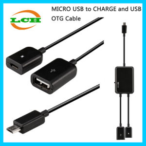 Micro-USB to Data/Powercharge USB OTG Adapter for Android Phone/Tablet Hub pictures & photos