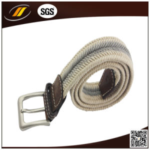 New Fashion Leather Combine Casual Cotton Braided Belt