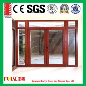 2.0mm Thickness Aluminum Frame Double Tempered Glass Door