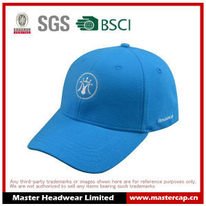 Light Blue Pique Baseball Cap with Embroidery