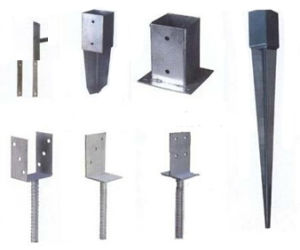 Galvanized Pole Anchor, Post Anchor, Ground Anchor