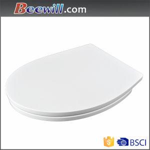 European Standard White Toilet Seat with Soft Close Hinge