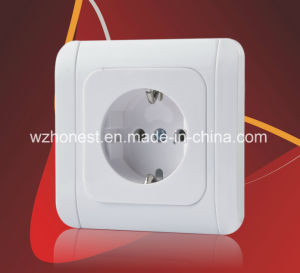 Made in China Factory Color Electric Socket Switch European Power Wall Switch Made in China Factory pictures & photos