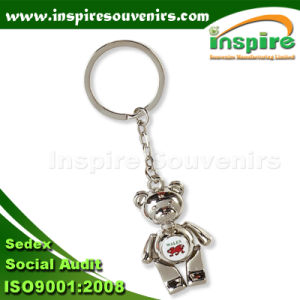 Bear Souvenir Keychain; Metal Bear Keychain; Epoxy Bear Keyring pictures & photos