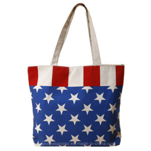 Eco Friendly Reusable Tote Bag Cotton Canvas Bag with Zipper pictures & photos