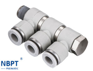 Phl Series Pneumatic Joint Four Angle Pipe Fittings