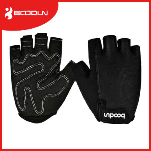 Boodun Racing Black Climbing Gym Fingerless Cycling Gloves