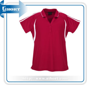 Fashion Red Polo Shirts for Women (ATPL-0189)