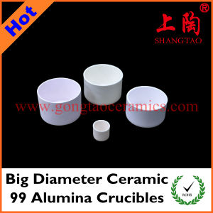 Big Diameter Ceramic 99 Alumina Crucibles pictures & photos