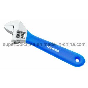 Quality Adjustable Wrenhes with One Color Dipped Handle (161200) pictures & photos