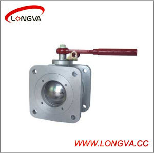 Square 304 Stainless Steel Flanged Ball Valve pictures & photos