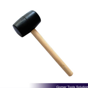 Rubber Mallet with Wooden Handle (T05029)