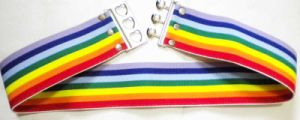 Elatic Rainbow Belt with Metal Buckle pictures & photos